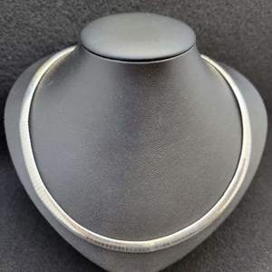 """Lot 96 - Vintage Sterling Silver OMEGA 17"""" Necklace, 6mm"""