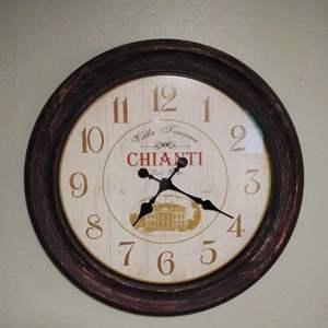 """Lot #MW7 - Large 'CHIANTI' Wall Clock 29"""" Diameter!  Working Clock"""