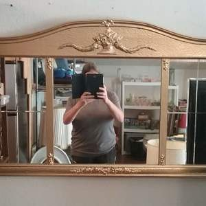 Lot #MW11 - Large Vintage Gold Painted Framed Mirror 44 x 25