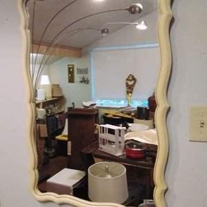 "Lot #MW12 - Vintage MCM Wall Mirror Plastic Frame 35"" x 24"""