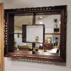 Lot #MW13 - Great 1956 Mirrored Shadow Box Nic Nak Shelf