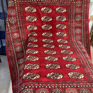 """Lot #EL16 - Antique Hand Knotted Rug 76"""" x 52"""""""
