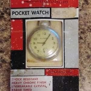 Lot #HW20 - Vintage Unopened Ingram Pocket Watch NIP NOS