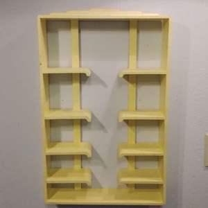 Lot #HW26 - Art Deco Waterfall Multi Level Display Shelf.  Teacup or Nic Nak