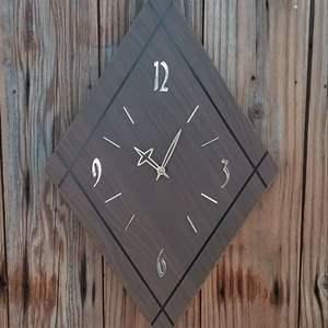 "Lot #LH36 - MCM SUNBEAM Diamond Shaped Wall Clock 24"""