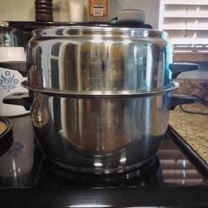 Lot #HW43 - RENA RenaWare Cooker Pot 3 pc Set Dutch Oven ?