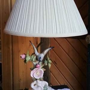 Lot #HW54 - Vintage Capidomonte Table Lamp Excellent Condition