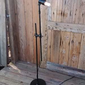 Lot# LH55 - Industrial Style STEBER Lighted Socket Floor Lamp Adjustable Height