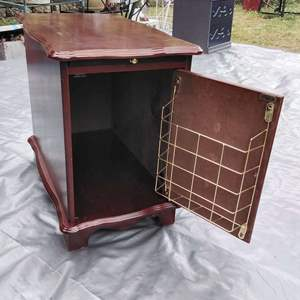 Lot #MW57 - Cute Small Writing Side Table with Storage