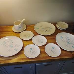 Lot #EL70 -  Franciscan ATOMIC Dinnerware Pieces PLUS some chipped ones if you want them.