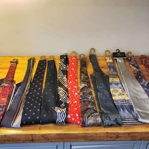 Lot #EL80 -  Vintage Italian Tie Lot ENRO, HERVE BENARD, MACHADO, FRATELLI