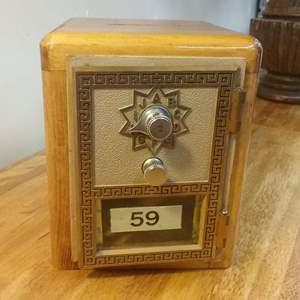 Lot #EL84 - Vintage Post Office Box Bank
