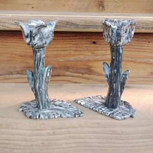 Lot #D89 - Very nice Marble Candle Holders