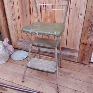 Lot #LH91 - Vintage COSCO Step / Sit Stool with Back