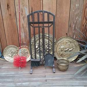 Lot #MW105 - Fireplace Tools and Decor