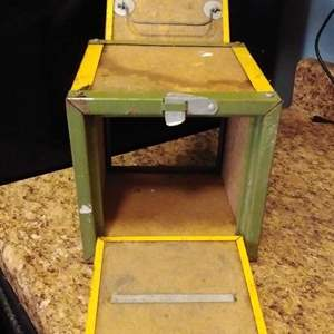 Lot #MW117 - Vintage Oberlin Canteen Bait Box with two Hatches on Opposite Ends