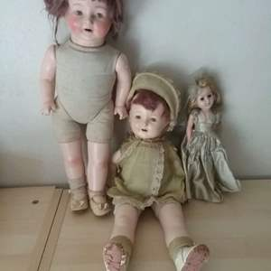 Lot #LH123 - Vintage Dolls Two EIH and One Unbranded