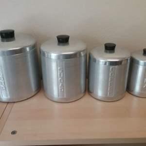 Lot #LH132 - Vintage Aluminum Canister Set