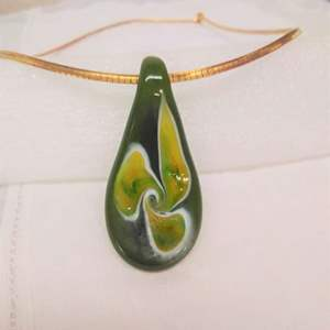 Lot #EL144 - Murano Italy 925 Chain with Glass Pendant