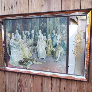 Lot #MW150 - Simonetti 'The Concert' Vintage Wall Mirror Picture Art
