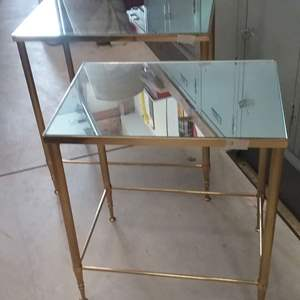 Lot # EL184 - Pair of Mirrored Top Nesting Tables