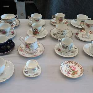 Lot #EL185 Teacups & Demitasse Collectibles (See Photos for Brands)