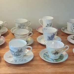 Lot #EL186 - Teacups and Saucer Sets