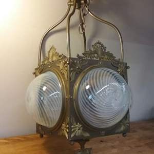Lot #LH196 - Vintage Lamp Frame with no Guts.