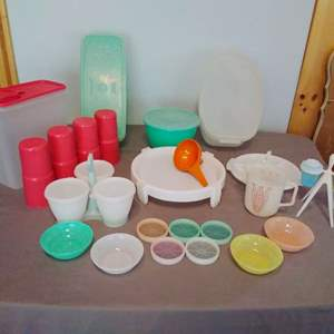 Lot #HW217 - Large Lot of Mostly New Tupperware