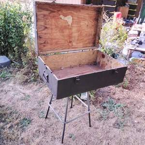 Lot #LH219 - Plywood Storage Chest Trunk
