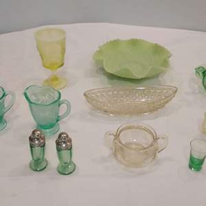 Lot #LH226 - Vintage Colored Glass Items FENTON and others
