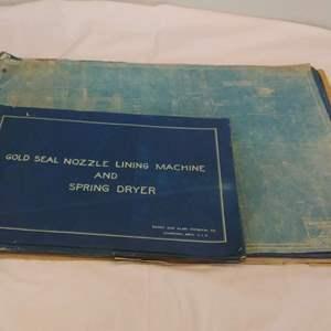 Lot #LH229 - Large Vintage Blue Print Lot