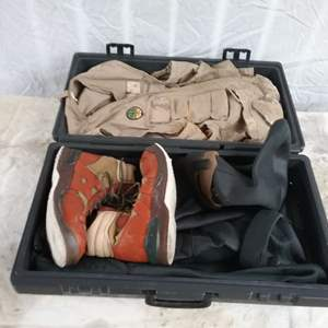 Lot #MW231 - Fly Fishing Clothes in case