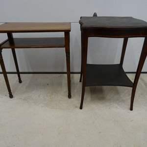 Lot #EL260 - Two Mahogany Side Tables