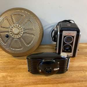 Lot #EL268 - VTG Kodak Duaflex Camera and Vulcan Smoke Detector