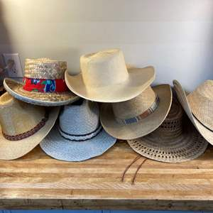 Lot #EL269 - Collection of Straw Sun Hats