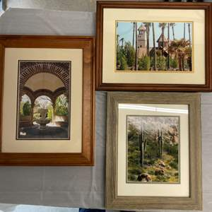 Lot #EL270 - Framed Photography 3 South West Themes