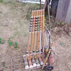 Lot #MW287 - Vintage Croquet Set - Complete