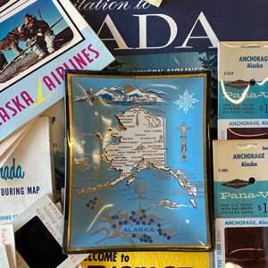 Lot#-EL297-1960's Alaska Travel Collectibles