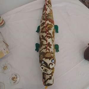 "Lot #MW300 - 33"" Folk Art Upholstery Fabric Gila Monster"