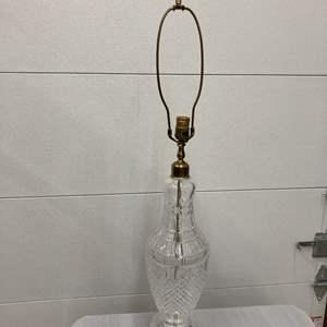 Lot # EL304 - Mid Century Lead Crystal Lamp