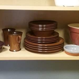 Lot #MW328 - Kitchen Cabinet Crate & Barrel, Prairie Adobe