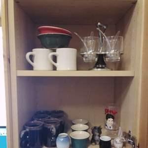 Lot #MW339 - Kitchen Collectible Lot LeCreuset Ramekins, REGO Mugs and more