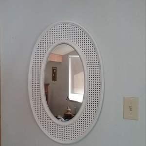 Lot #MW340 Wicker Look Mirror 30 x 20 CLEAN