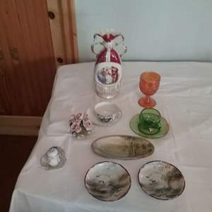 Lot #LH343- Japanese and Austrian Porcelain, Carnival Glass Plus more