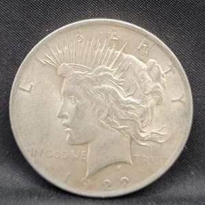 Lot 5 - 1922 Peace SILVER Dollar