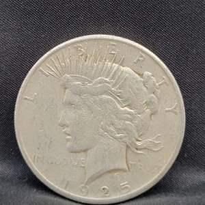 Lot 6 - 1925 Peace SILVER Dollar