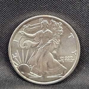 Lot 10 - 1/10th Troy Oz .999 Fine Silver Walking Liberty Eagle