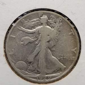 Lot 11 - 1929-S SILVER Walking Liberty Half Dollar