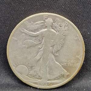 Lot 12 - 1936-S SILVER Walking Liberty Half Dollar